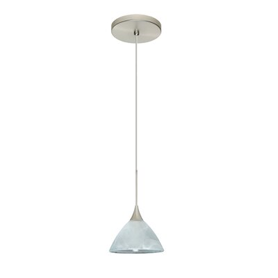 Domi 1 Integrated Bulb Mini Pendant Finish: Satin Nickel, Bulb Type: Halogen