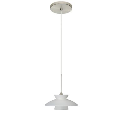 Trilo 1-Light Mini Pendant Finish: Satin Nickel, Bulb Type: LED, Shade Color: Frost