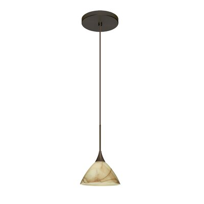 Domi 1 LED Integrated Bulb Mini Pendant Finish: Bronze, Bulb Type: Halogen