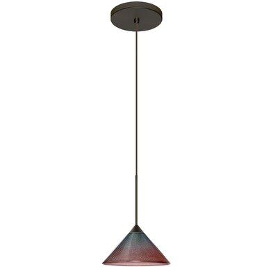 Kona 1 LED Integrated Bulb Mini Pendant Finish: Bronze, Bulb Type: LED, Shade Color: Bi-Color