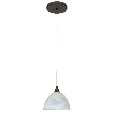 Brella 1 LED Integrated Bulb Mini Pendant Finish: Bronze, Bulb Type: Halogen