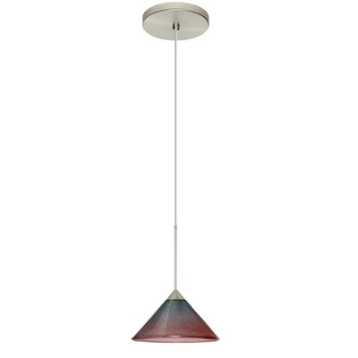 Kona 1 Integrated Bulb Mini Pendant Finish: Satin Nickel, Shade Color: Bi-Color, Bulb Type: LED