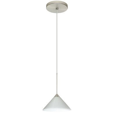 Kona 1 Integrated Bulb Mini Pendant Finish: Satin Nickel, Shade Color: White Starpoint, Bulb Type: Halogen