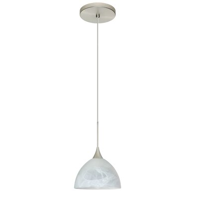 Brella 1 Integrated Bulb Mini Pendant Finish: Satin Nickel, Bulb Type: Halogen