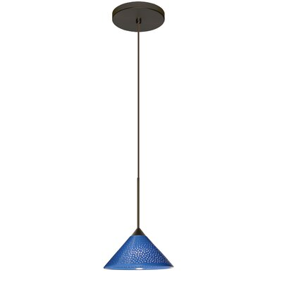Kona 1 Integrated Bulb Mini Pendant Finish: Bronze, Shade Color: Blue Starpoint, Bulb Type: LED