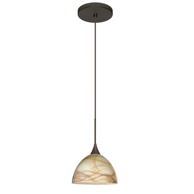 Brella 1-Light Mini Pendant Finish: Bronze, Bulb Type: Halogen
