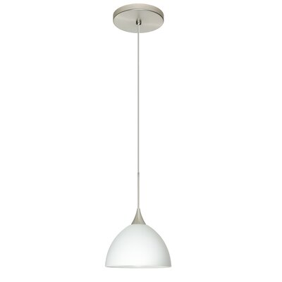 Brella 1-Light Mini Pendant Finish: Satin Nickel, Bulb Type: LED