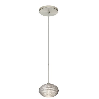 Lasso 1 Integrated Bulb Mini Pendant Finish: Satin Nickel, Shade Color: Glitter, Bulb Type: Halogen