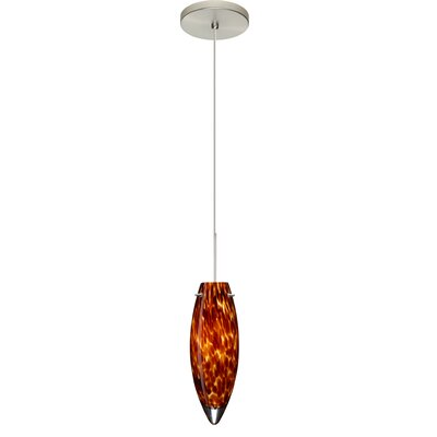 Juliette 1 Integrated Bulb Mini Pendant Finish: Satin Nickel, Shade Color: Amber Cloud, Bulb Type: LED