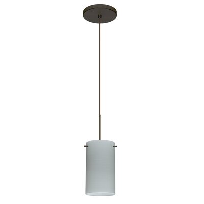 Stilo 1-Light Mini Pendant Finish: Bronze, Shade Color: Chalk, Bulb Type: Halogen
