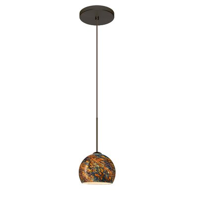 Palla 1 Integrated Bulb Mini Pendant Finish: Bronze, Bulb Type: LED