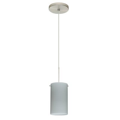 Stilo 1-Light Mini Pendant Bulb Type: Halogen, Finish: Satin Nickel, Shade Color: Chalk
