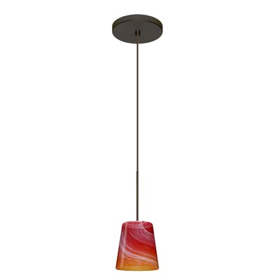 Canto 1 Integrated Bulb Mini Pendant Finish: Bronze, Bulb Type: Halogen