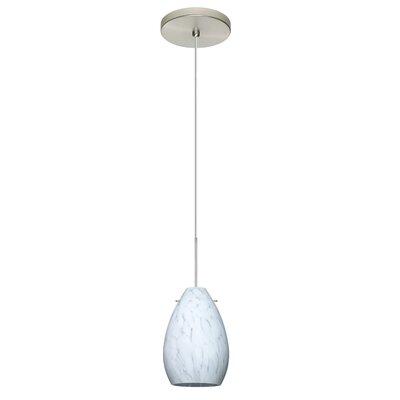Pera 1-Light Mini Pendant Finish: Satin Nickel, Bulb Type: LED