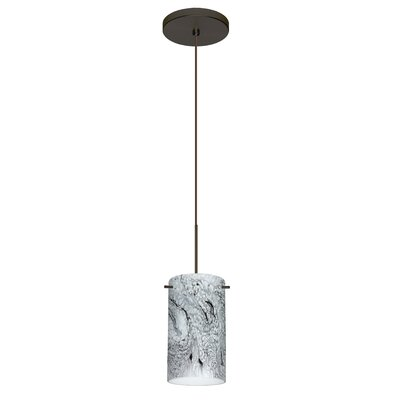 Stilo 1-Light Mini Pendant Finish: Bronze, Bulb Type: Halogen