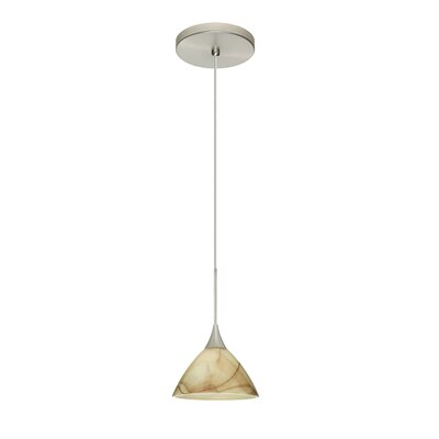 Domi 1 LED Integrated Bulb Mini Pendant Bulb Type: Halogen, Finish: Satin Nickel