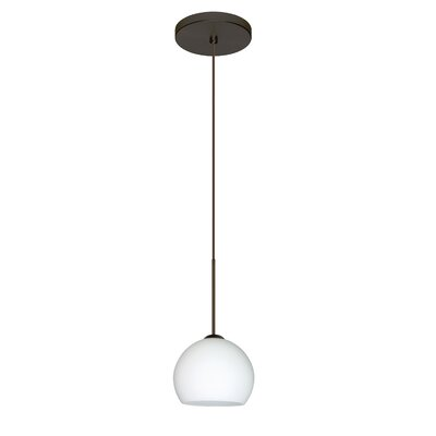 Palla 1 LED Integrated Bulb Mini Pendant Finish: Bronze, Bulb Type: Halogen