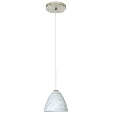 Mia 1 Integrated Bulb Mini Pendant Finish: Satin Nickel, Bulb Type: LED