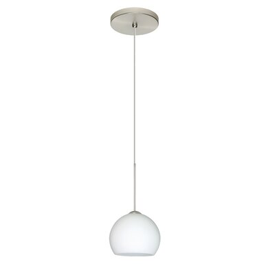 Palla 1 Integrated Bulb Mini Pendant Finish: Satin Nickel, Bulb Type: LED