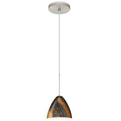 Mia 1 Integrated Bulb Mini Pendant Finish: Satin Nickel, Bulb Type: Halogen