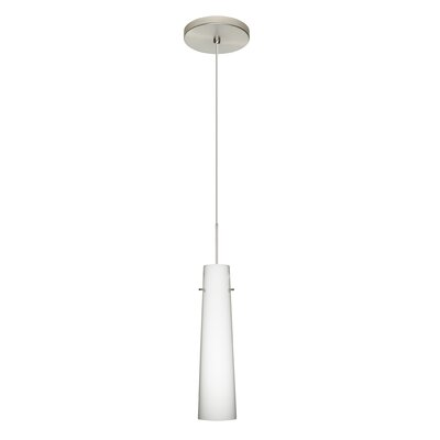 Camino 1 LED Integrated Bulb Mini Pendant Bulb Type: LED, Finish: Satin Nickel, Shade Color: Opal Matte