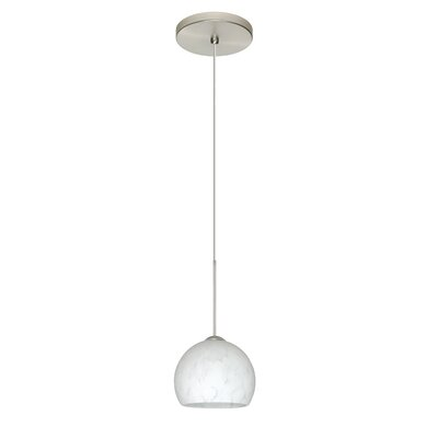Palla 1-Light Mini Pendant Bulb Type: Halogen, Finish: Satin Nickel