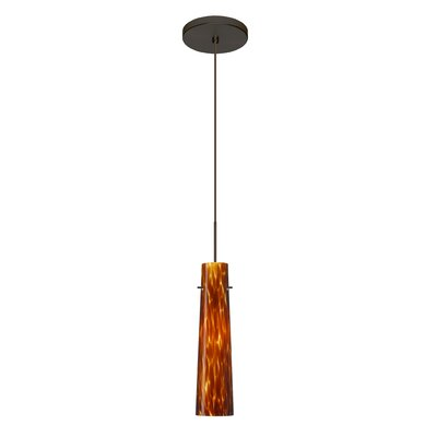 Camino 1 LED Integrated Bulb Mini Pendant Finish: Bronze, Shade Color: Amber Cloud, Bulb Type: LED