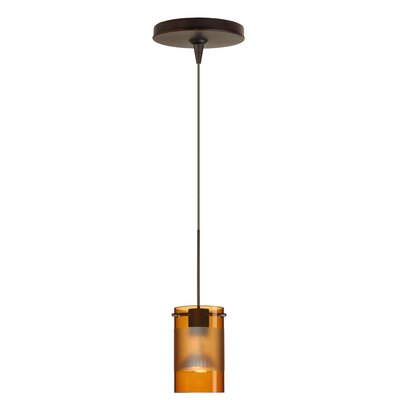 Scope 1 Light Mini Pendant Finish: Bronze, Glass Shade: Armagnac-Frost