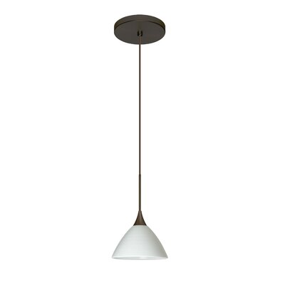 Domi 1 Integrated Bulb Mini Pendant Finish: Bronze, Shade Color: Chalk, Bulb Type: LED