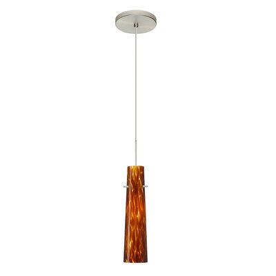 Camino 1 LED Integrated Bulb Mini Pendant Shade Color: Amber Cloud, Bulb Type: LED, Finish: Satin Nickel