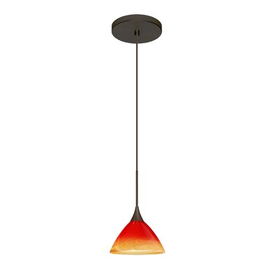 Domi 1 LED Integrated Bulb Mini Pendant Finish: Bronze, Bulb Type: LED