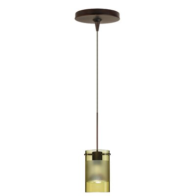 Scope 1 Light Mini Pendant Finish: Bronze, Glass Shade: Olive-Frost
