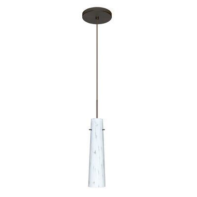 Camino 1 LED Integrated Bulb Mini Pendant Finish: Bronze, Bulb Type: Halogen
