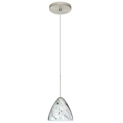 Mia 1-Light Mini Pendant Finish: Satin Nickel, Bulb Type: Halogen