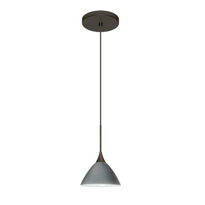 Domi 1 LED Integrated Bulb Mini Pendant Finish: Bronze, Bulb Type: LED, Shade Color: Titan