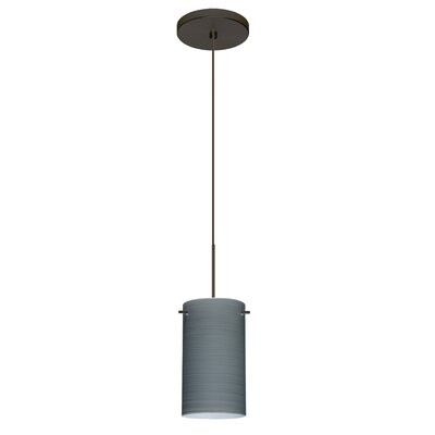 Stilo 1-Light Mini Pendant Finish: Bronze, Shade Color: Titan, Bulb Type: Halogen