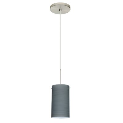 Stilo 1-Light Mini Pendant Finish: Satin Nickel, Shade Color: Titan, Bulb Type: Halogen