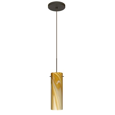 Copa 1 LED Integrated Bulb Mini Pendant Finish: Bronze, Bulb Type: Halogen