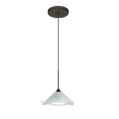 Hoppi 1 LED Integrated Bulb Mini Pendant Bulb Type: Halogen, Finish: Bronze