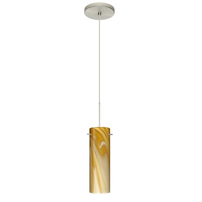 Copa 1 LED Integrated Bulb Mini Pendant Bulb Type: Halogen, Finish: Satin Nickel