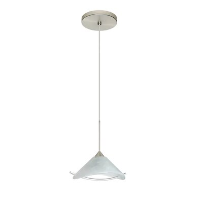 Hoppi 1 LED Integrated Bulb Mini Pendant Finish: Satin Nickel, Bulb Type: LED
