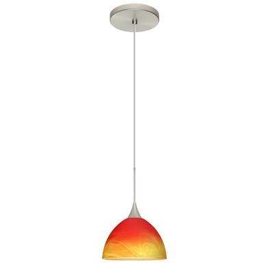 Brella 1 Integrated Bulb Mini Pendant Finish: Satin Nickel, Bulb Type: LED