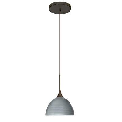 Brella 1 Integrated Bulb Mini Pendant Finish: Bronze, Shade Color: Titan, Bulb Type: LED