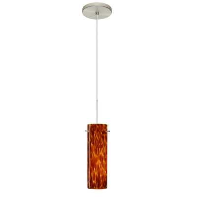 Copa 1 LED Integrated Bulb Mini Pendant Shade Color: Amber Cloud, Bulb Type: Halogen, Finish: Satin Nickel