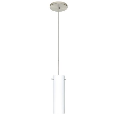 Copa 1 LED Integrated Bulb Mini Pendant Shade Color: Opal Matte, Bulb Type: Halogen, Finish: Satin Nickel