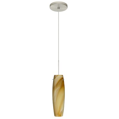 Tutu 1 LED Integrated Bulb Mini Pendant Bulb Type: LED, Finish: Satin Nickel