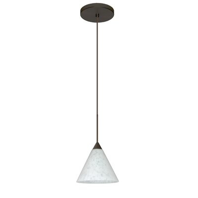 Kani 1 Integrated Bulb Mini Pendant Finish: Bronze, Bulb Type: Halogen