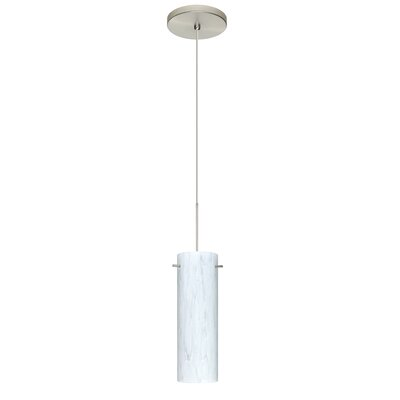 Copa 1 Integrated Bulb Mini Pendant Finish: Satin Nickel, Bulb Type: Halogen