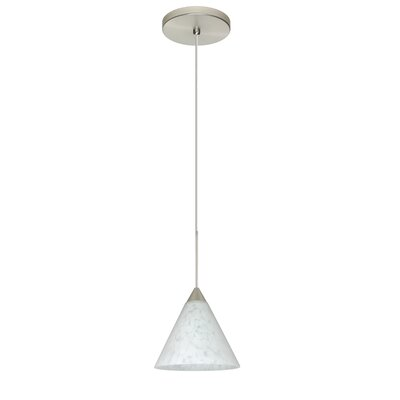 Kani 1 Integrated Bulb Mini Pendant Finish: Satin Nickel, Bulb Type: Halogen