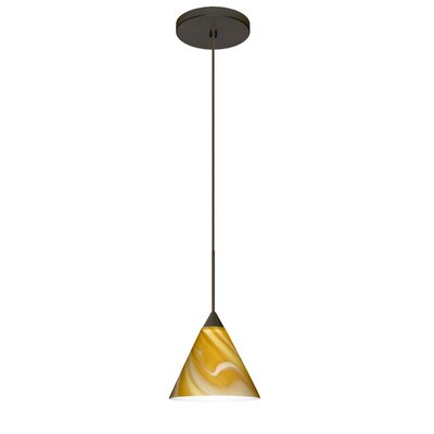 Kani 1 LED Integrated Bulb Mini Pendant Finish: Bronze, Bulb Type: Halogen